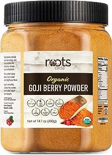 Roots Circle USDA Organic Goji Berry Powder | Bulk Supply of Goji Berry Fruit Superfood | Naturally Rich in Antioxidants t...
