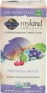 Garden Of Life, Multivitamin Mykind Prenatal Organic, 108 Count