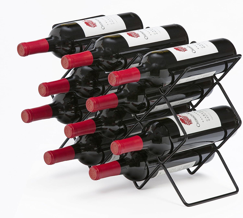 Mango Steam 10 Bottle Black Wine - Orga Top Counter OFFicial site Max 76% OFF Storage Rack