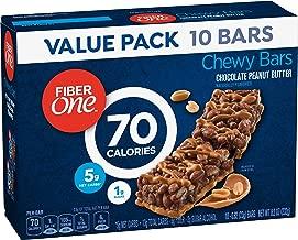 Fiber One 70 Calorie Chocolate Peanut Butter Bars, Snack, 10ct.
