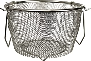 Instant Pot Compatible Stainless Steel Steamer Strainer Basket Accessory- Fits Instapot 6qt, 8qt and other Pressure Cookers- for Vegetables, Eggs, Pasta, Stock, Broth & More- by Modern Essentials & Co