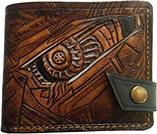 Men's 3D Genuine Leather Wallet, Hand-Carved, Hand-Painted, Leather Carving, Custom wallet, Personalized wallet, Transformers wallet, Decepticons, Autobots