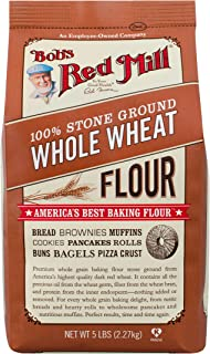Bob's Red Mill Whole Wheat Flour, 5-pound (Pack of 4)