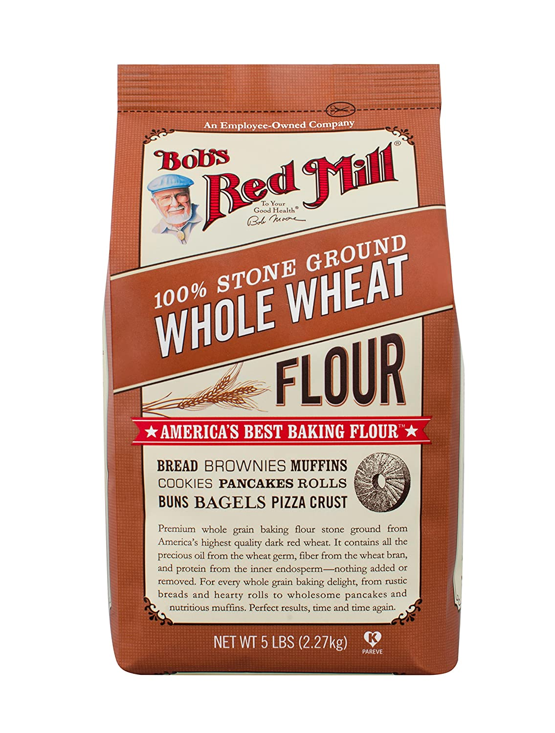 Bob's Red Mill Whole Wheat Flour - 5 lb (Pack of 1)