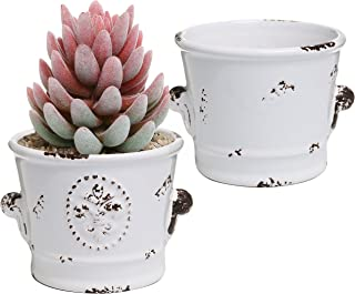 Best rustic white planter Reviews