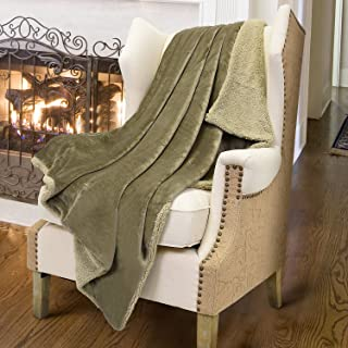 Catalonia Sherpa Throws Blanket,Reversible Match Color Super Soft Fuzzy Comfy Micro Plush Fleece Snuggle Blanket All Season for TV Bed or Couch 50