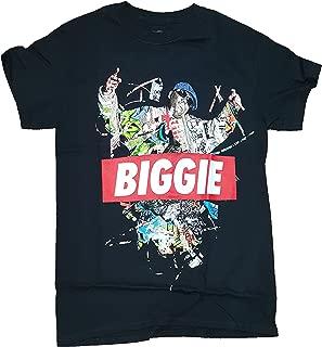 Fashion Notorious B.I.G. Biggie Collage Black Graphic T-Shirt