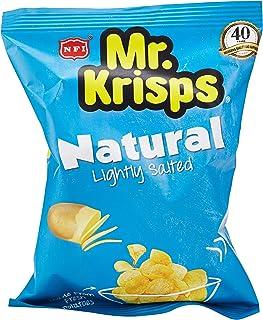 Mr Krisps Potato Chips Natural Lightly Salted, 25 x 15 gm