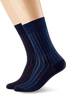 Dim, AD0026J.6I553 Calcetines, Azul (Azul Marino 6i5), 42 (Tamaño del fabricante:39/42) (Pack de 2) para Hombre