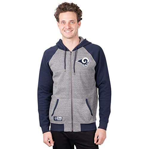 2eddcbc3d48 ICER Brands NFL Men s Full Zip Hoodie Sweatshirt Raglan Jacket