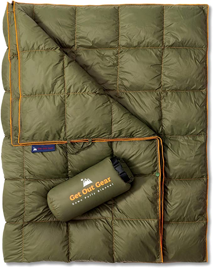 Get Out Gear Down Camping Blanket Backpacking Quilt - Best Material