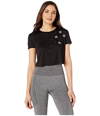 Ultracor Swarovski(r) Starflower Crop Tee (Nero Black Chrome) Women