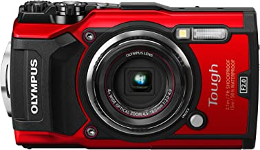 Olympus TG-5 Waterproof Camera with 3-Inch LCD, Red (V104190RU000) (Renewed)