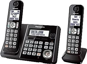 Panasonic KX-TG3752B Expandable Cordless Phone with Call Block and Answering Machine - 2 Handsets