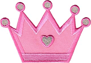 PatchMommy Princess Crown Patch, Iron On/Sew On - Appliques for Kids Children