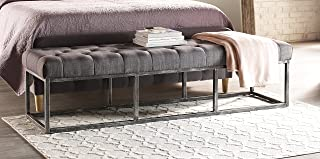 Best serta danes tufted bench with iron legs Reviews