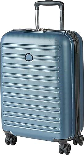 DELSEY PARIS - SEGUR 2.0 - Valise cabine rigide à double roues et serrure TSA intégrée - 55cm, 36.3L, Bleu