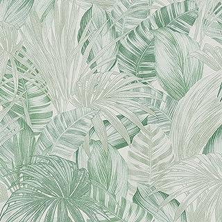 Amazonia Singe Palmiers Jungle Tropicale Forêt Papier Peint Blanc WOW043
