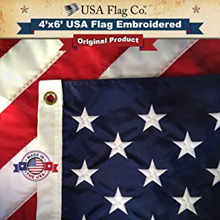 US Flag 4x6 by USA Flag Co. is 100% American Made: The Best Embroidered Stars and Sewn Stripes American Flags, Made in The...