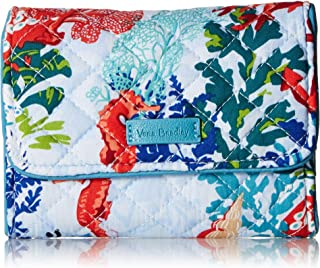 Vera Bradley Iconic RFID Riley Compact Wallet, Signature Cotton