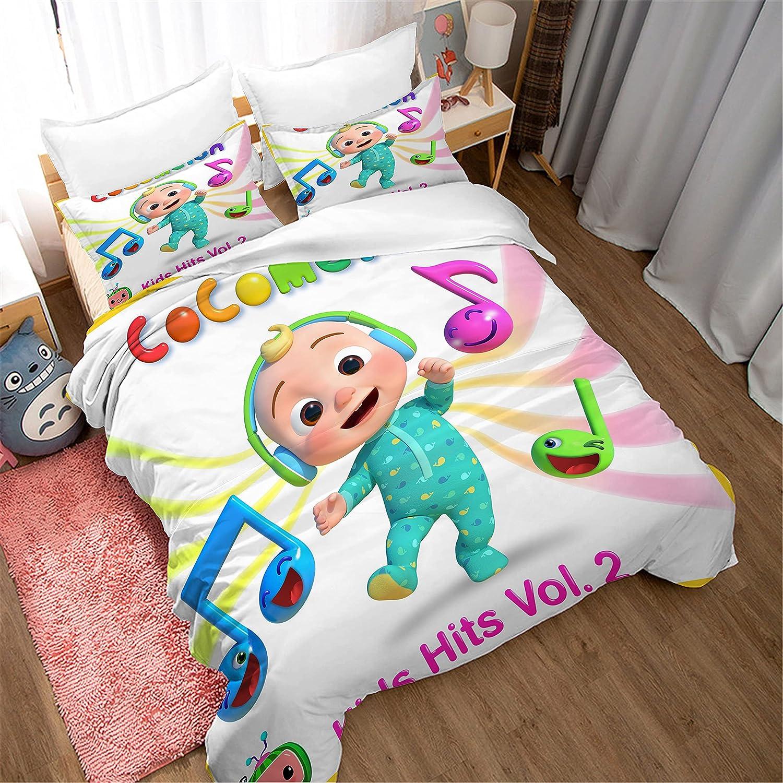 Baby Listening Music Bedding Duvet Cover Girl for Boys Max 88% Regular dealer OFF Teens Set