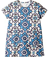 Toobydoo - Blue Floral Shift Dress (Toddler/Little Kids/Big Kids)