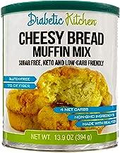 Diabetic Kitchen Cheesy Bread Muffin Mix Puts Bread Back On Your Menu, Low-Carb, Keto-Friendly, Sugar-Free, Gluten-Free, 7g Fiber, Non-GMO (24 Servings)