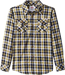 Golden Navy Plaid