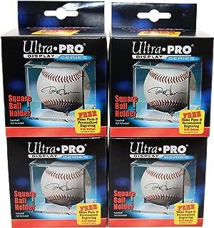 4 Ultra Pro Square BASEBALL DISPLAY Holder w/Stand New Lot Set [4 Baseball Cubes]