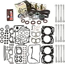 Evergreen HSHBTBK9009MLS-2 MLS Head Gasket Set Head Bolts Timing Belt Kit Fits 00-03 Subaru 2.5 SOHC EJ251 EJ252