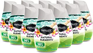 Renuzit Natural Elements Gel Air Freshener, Pure Ocean Breeze, 7 Ounces, 12 Count
