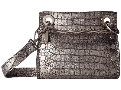 Hammitt Tony Small (Obsidian/Brushed Silver) Cross Body Handbags