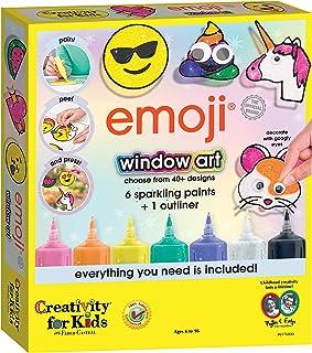 Creativity for Kids Emoji Window Art - Paint Your Own DIY Window Art Craft Kit for Kids