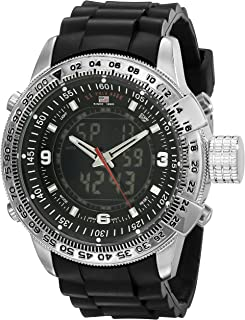 Sport Men's US9047 Analog-Digital Black Dial Black Rubber...