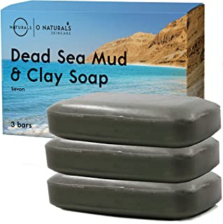 Dead Sea Mud Salt Natural Bar Soap Minerals Face Body Cleanser Hand Soap Helps Acne Pimples Eczema Exfoliate Dead Skin Bes...