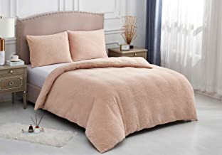 Novali Teddy Fleece Luxury Duvet Cover Sets Thermal Warm & Super Soft Cozy with Matching Fluffy Pillow Case Set Cosy Beddi...