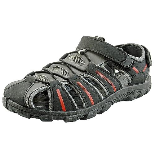 26bd4bf71 Easy USA Men s Waterproof Sport Sandals Black Grey 10