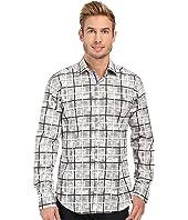 BUGATCHI - Palermo Shaped Fit Long Sleeve Woven Shirt
