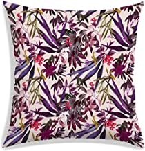 RADANYA Leaf Decorative Throw Pillow Covers Polyester Square Cushion Covers Tropical Pattern Outdoor Couch Sofa Home Pillo...