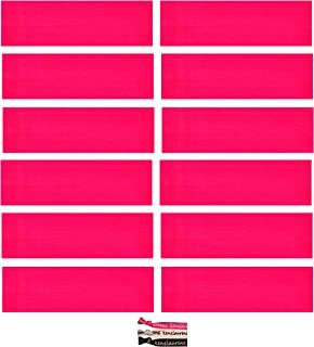 Kenz Laurenz Soft and Stretchy Elastic Cotton Headbands, (Pack of 12) - Hot Pink
