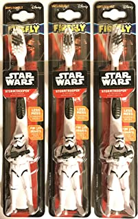 Firefly Manual Toothbrush - Star Wars Stormtrooper 3D Toothbrush - Soft Bristles - 1 Count Toothbrush Per Package - Pack of 3 Packages