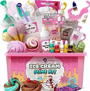 Original Stationery Ice Cream Fluffy Slime Kit Pluizige Slijm Kit voor Meisjes Alles in Één Doos om ijs Slimes te Maken - ...