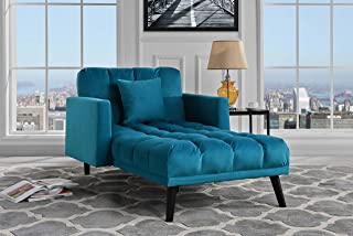 Amazon.com: Blue - Chaise Lounges / Living Room Furniture: Home ...