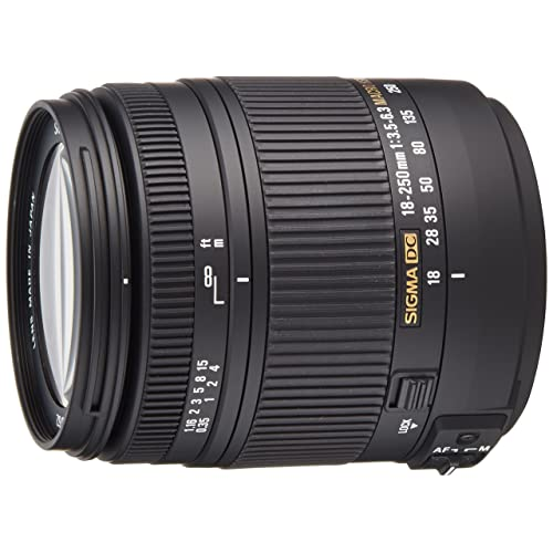 Sigma 18-250mm F/3.5-6.3 DC OS HSM Telephoto Macro Zoom Lens for Canon DSLR Camera