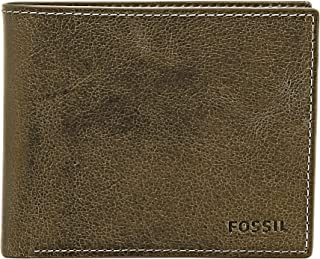 Fossil Men's Derrick Leather RFID Blocking Large Coin Pocket Bifold Wallet