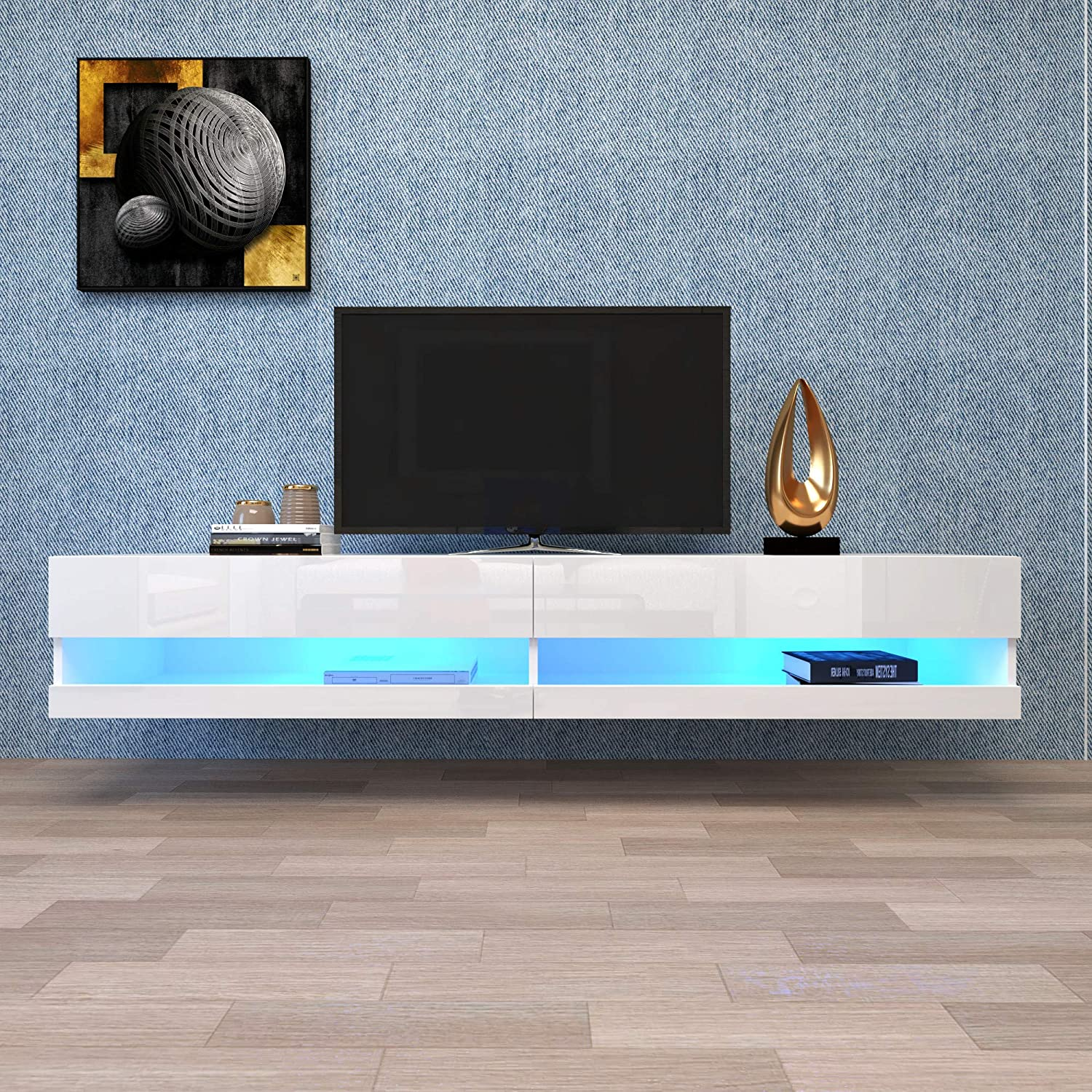 Fashionable 180cm Wall Mounted Floating 80 Stand Inch Entertainment TV NEW before selling