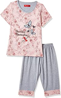 JOANNA Girl's Printed & Embroided Butterfly Pajama Set