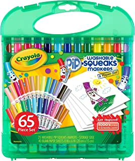 نشانگرها و کاغذهای قابل شستشو Crayola Pip-Squeaks ، فعالیتهای سفر کودکان ، سن 4 ، 5 ، 6 ، 7 ،