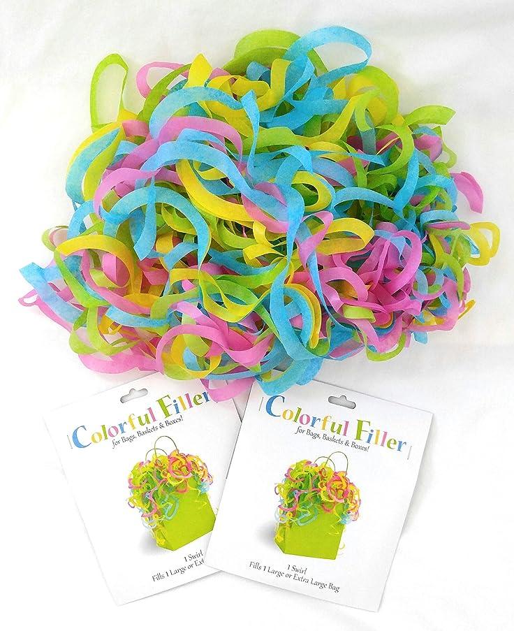 Set of 2 Large Colorful Filler Tissue Wrap Swirls