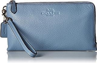 COACH Women's Pebbled Leather Double Zip Wallet